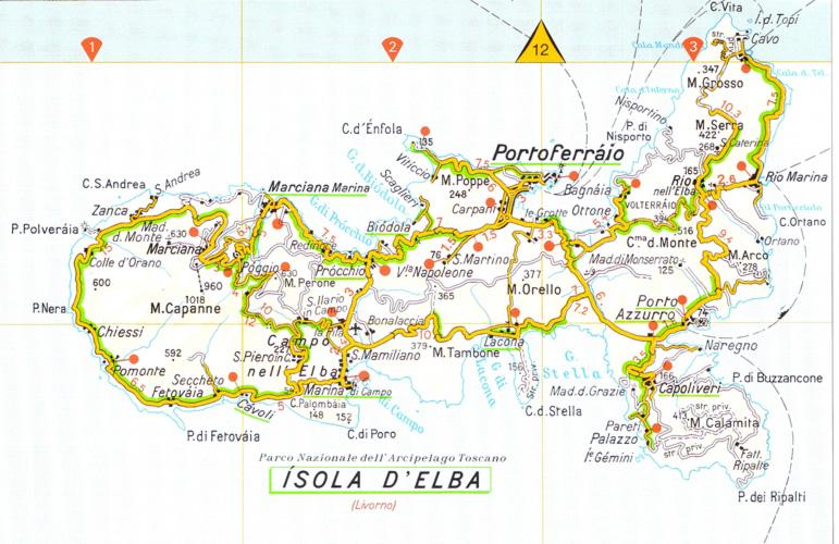 elba szigete térkép A Toszkán Szigetvilág legnagyobb szigete, Elba | Toscana Utazás